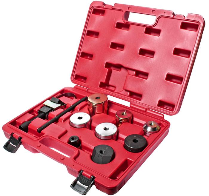 JTC Набор для снятия и установки сайлентблоков заднего подрамника (BMW E87, E90, E93, M3). JTC-4301JTC-4301Все работы выполняются прямо на автомобиле.Специально предназначен для замены сайлентблоков задней оси.Применение: БМВ (BMW) E87, E90, E93, M3.Номер резинометаллического шарнира: 33326763092, 110867-10.Номер сайлентблока: 26643676.Упаковка: прочный переносной кейс.Габаритные размеры: 380/300/100 мм. (Д/Ш/В) Вес: 4150 гр. ПОДРОБНАЯ ВИДЕОИНСТРУКЦИЯ