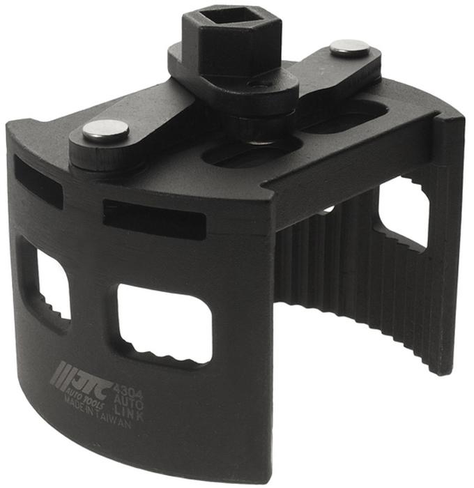 """JTC Ключ для снятия масляного фильтра двухпозиционный. JTC-4304JTC-4304Особая рифленая конструкция способствует крепкому захвату масляного фильтра. Универсальный дизайн для масляных фильтров различных типов. Специальная пружина в конструкции ключа предотвращает выскальзывание фильтра. Диаметр: 104-150. Ключ: 1/2""""Drх24 мм."""