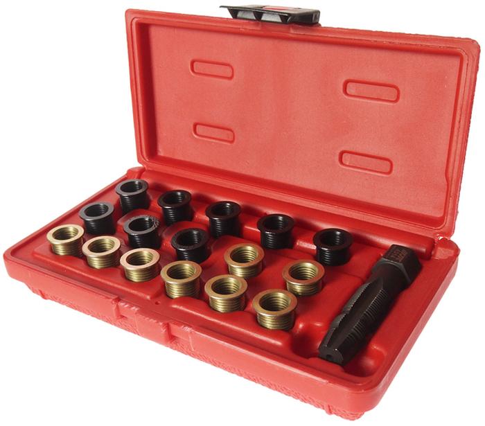 """JTC Набор для восстановления резьбы свечей зажигания, пружинная вставка, 5 шт. JTC-4312JTC-4312Набор специально предназначен для реконструкции резьбы свечей зажигания. В комплект входит направляющая втулка, специальные метчики и шестигранный ключ. Характеристики вставок: М14х1.25 (7/16"""") – 5 шт. Размер: М14х1.25. Габаритные размеры: 240/120/40 мм. (Д/Ш/В) Вес: 430 гр."""