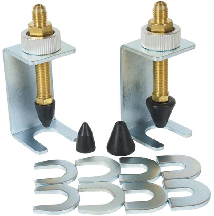 Набор адаптеров JTC, для тестирования системы кондиционирования. JTC-4317JTC-4317Набор адаптеров JTC специально предназначен для тестирования различных типов системкондиционирования с размерами фитингов/патрубков 1/4-7/8.В комплекте:Зажимы - 2 шт.Уплотнители размером: 3/8, 1/2, 5/8, 3/4 по 2 шт. каждого типа.Габаритные размеры: 165 x 75 x 50 мм. (Д/Ш/В)Вес: 540 гр.