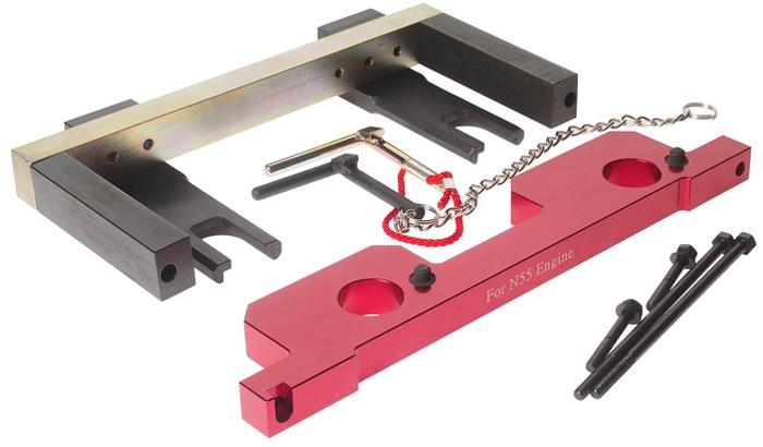 JTC Специнструмент для фиксации распределительного вала BMW (N55). JTC-4349JTC-4349Предназначен для установки и снятия распредвала или его различных элементов.Применяется для проверки и установки фаз ГРМ.Применение: БМВ (BMW) N55.Габаритные размеры: 420/290/80 мм. (Д/Ш/В)Вес: 5270 гр.