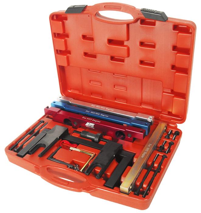 JTC Специнструмент для фиксации распределительного вала BMW (N51/N52/N53/N54/N55). JTC-4350JTC-4350Предназначен для установки и снятия распредвала или его различных элементов. Применяется для проверки и установки фаз ГРМ. Применение: БМВ (BMW) N51, N52, N53, N54, N55. Габаритные размеры: 420/330/80 мм. (Д/Ш/В) Вес: 8200 гр.  ПОДРОБНАЯ ВИДЕОИНСТРУКЦИЯ