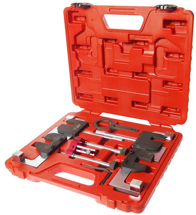 JTC Набор для установки ГРМ BMW (S63). JTC-4378JTC-4378Набор предназначен для проверки и установки фаз ГРМ. Применение: БМВ (BMW) S63, F10/M5 (10-), F06/M6 (11-), F12, 13/M61-), E70/X5M (08-13), E71/X6M (08-13). Оригинальные номера: 2249117, 2249140, 2249144, 2249159, 2249162, 118570, 119190. Габаритные размеры: 398/320/80 мм. (Д/Ш/В) Вес: 6260 гр.