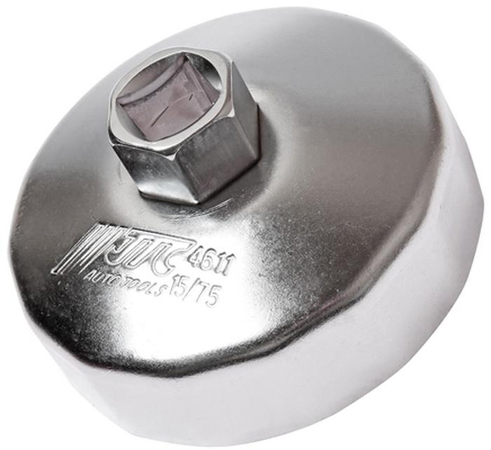 JTC Съемник масляного фильтра. JTC-4611JTC-4611Предназначен для снятия масляного фильтра в ходе проведения диагностических работ.Форма - 15-гранная чашка.Размеры: 15 граней/75 мм.Применение: Форд (Ford), Мазда (Mazda), Ленд Ровер (Land Rover), Вольво (Volvo).Инструмент: 1/2, 21 мм.Количество в оптовой упаковке: 10 шт. и 100 шт.Габаритные размеры: 145/110/40 мм. (Д/Ш/В)Вес: 200 гр.