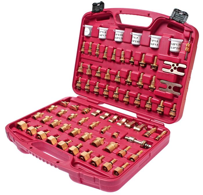 JTC Набор адптеров для тестирования системы кондиционирования для японских автомобилей. JTC-4636JTC-4636В набор входят различные адаптеры для тестирования системы кондиционирования на предмет утечек. Предназначен для проверки расширительного клапана, осушителя, компрессора, конденсатора и испарителя. Применение: автомобили японского производства. Упаковка: прочный переносной кейс. Габаритные размеры: 400/330/80 мм. (Д/Ш/В) Вес: 4160 гр.