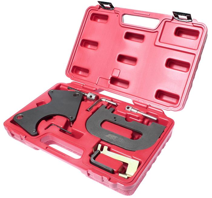 Фиксатор распредвала JTC, для установки фаз ГРМ (Renault). JTC-4677AJTC-4677AПриспособление для регулировки шкива распределительного вала предназначено для фиксации шкивов во время замены приводного ремня и последующей корректной установки фаз ГРМ.Применение: Рено (Renault) 16V & K4J, K4M & F4P, F4R.Упаковка: прочный переносной кейс.Габаритные размеры: 345/240/85 мм (Д/Ш/В).Вес: 1977 г.