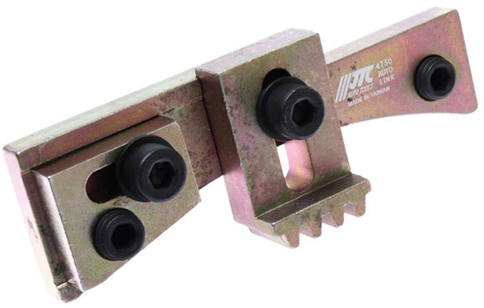 JTC Фиксатор маховика универсальный, диапазон 92-107 мм. JTC-4750JTC-4750Специально предназначен для фиксации маховика при замене коробки передач.Приспособление может быть зафиксировано аксиально и радиально с помощью резьбовых болтов.Диапазон применения: 92-107 мм.Габаритные размеры: 210/90/60 мм. (Д/Ш/В) Вес: 472 гр.