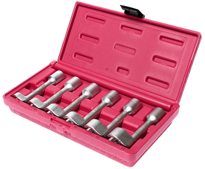 JTC Набор ключей разрезных L-образных, 6 шт. JTC-4757JTC-4757Предназначен для фиксации или снятия шкивов с двумя отверстиями. Съемные штифты и центральная регулировочная гайка подходят для любого размера. Может использоваться в ограниченном пространстве. Ключи разрезные 12-гранные, размеры: 12, 14, 16, 17, 18, 19 мм. Общая длина: 250 мм. Рабочий диапазон: минимум 19 мм. Общее количество предметов: 6. Упаковка: прочный переносной кейс. Количество в оптовой упаковке: 12 шт. Габаритные размеры: 255/136/50 мм. (Д/Ш/В) Вес: 1200 гр.