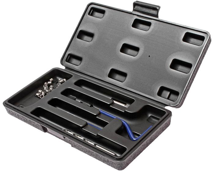 JTC Набор для восстановления резьбы (вставки M6x1,0, длина 8 мм, 20 шт), 24 предмета. JTC-4781JTC-4781В комплекте 24 предмета.В комплект входят: сверло, метчик, установочный инструмент, инструмент для обламывания хвостовика, резьбовые вставки.Размеры: М6х1.0.Длина: 8 мм.Количество резьбовых вставок: 20 шт.Упаковка: прочный пластиковый кейс. Габаритные размеры: 250/130/40 мм. (Д/Ш/В)Вес: 341 гр.