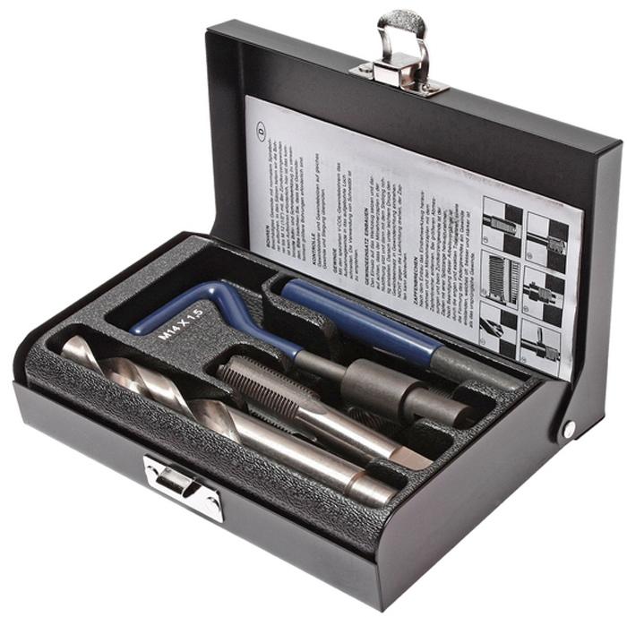 JTC Набор для восстановления резьбы (вставки M14x1,5, длина 21 мм, 5 шт), 9 предметов. JTC-4789 автоключики д дев свет звук 14 5 21 см коробка