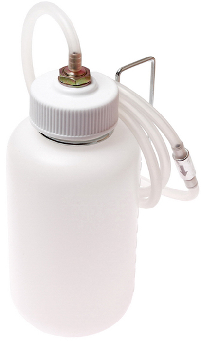 JTC Приспособление для удаления/прокачки тормозной жидкости,1 л. JTC-4829JTC-4829Применяется для удаления тормозной жидкости. Регулируемый черный резиновый адаптер подходит для различных размеров перепускных клапанов. Конструкция позволяет визуально контролировать процесс прокачки. Емкость: 1000 см³. Длина трубки: 1300 мм. Габаритные размеры: 265/115/115 мм. (Д/Ш/В) Вес: 415 гр.