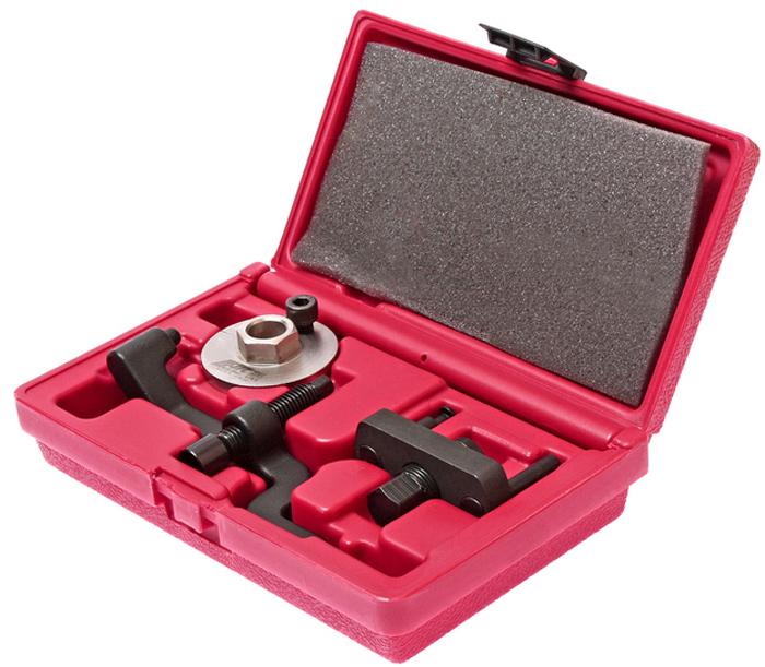 JTC Набор для демонтажа водяного насоса VW T5, TOUAREG 2.5D. JTC-4862JTC-4862Специально предназначен для демонтажа водяного насоса двигателей автомобилей VW 2.5 TDI. Применение: Фольксваген (Volkswagen) T5, Touareg 2.5D. Тип двигателя: BAC, BLK, BPD, AXD, AXE, BLJ, BNZ, BPC. В комплекте: Ключ адаптер для проворачивания коленчатого вала.Съемник зубчатого колеса помпы VAG.Съемник помпы VAG.Упаковка: прочный пластиковый кейс. Габаритные размеры: 220/135/55 мм. (Д/Ш/В) Вес: 1082 гр.