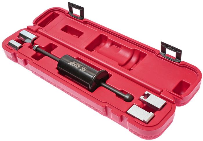 JTC Съемник форсунок 8-клапанных дизельных двигателей типа TDi группы VAG (VW, AUDI). JTC-4883JTC-4883Специально предназначен для снятия прикипевших форсунок с дизельными двигателями типа TDI группы VAG. Перед использованием инструмента двигатель должен быть охлажден.Применение: Фольксваген (Volkswagen), Ауди (Audi).Тип двигателя: ALH/AHU/1Z.Для 4-х цилиндровых двигателей (8-клапанные). Упаковка: прочный пластиковый кейс. Габаритные размеры: 390/90/75 мм. (Д/Ш/В) Вес: 1350 гр.