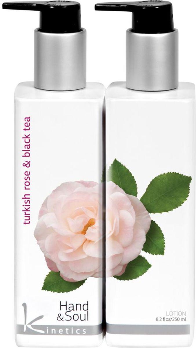 Kinetics Лосьон для рук Турецкая роза и черный чай, 250 млKL007Возбуждающая, тонизирующая, бодрящая формула, пронизывающая сиянием кожу. Верхняя нота - легкий фруктовый вкус папайи, малины и персика. Нота сердца - поистине райский сад из самых сладких цветов: роза, жасмин, гардения, сирень. Базовая нота - нежный, сладкий аромат ванили, нотки Сандалового дерева для успокоения вашей кожи и экстракт черного чая.Товар сертифицирован.