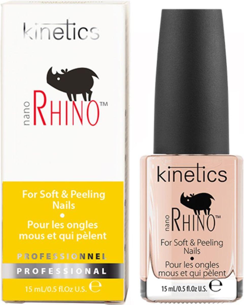 Kinetics Быстрый уход для слабых и ломких ногтей Nano Rhino (Носорог), 15 млKTR02NБыстрый уход для слабых ногтей Kinetics Nano Rhino (Носорог) заботится о слабых и ломких ногтях. Создает стойкий второй ногтевой слой для быстрого восстановления. Входящие в состав ухода естественный кератин и альдегид создают надежный защитный барьер и помогают быстро восстановить нормальное состояние ногтей. Средство идеально выравнивает поверхность ногтевой пластины, укрепляя ее, обеспечивает безупречное нанесение лака. Уход Kinetics Nano Rhino работает как базовое покрытие с улучшенной адгезией.Товар сертифицирован.