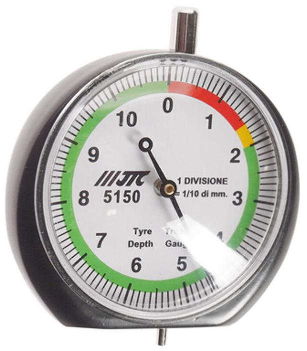 JTC Индикатор износа шин. JTC-5150JTC-5150Диаметр манометра: Ø 47 мм.Диапазон тестирования: 0-60 мм. (красный), 16-20 мм. (желтый), 20-110 мм. (зеленый). Габаритные размеры: 170/110/40 мм. (Д/Ш/В) Вес: 80 гр.