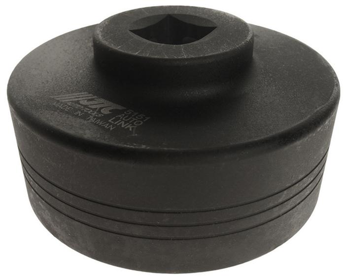 JTC Головка ступичная для грузовых автомобилей VOLVO 6-гранная. JTC-5151JTC-5151Специально предназначена для монтажа/демонтажа ступичных гаек грузовых автомобилей.Рекомендуется применять с пневматическим гайковертом, что значительно упрощает закручивание/откручивание гайки ступицы.Размер: 1 DR х 105 мм/6 граней.