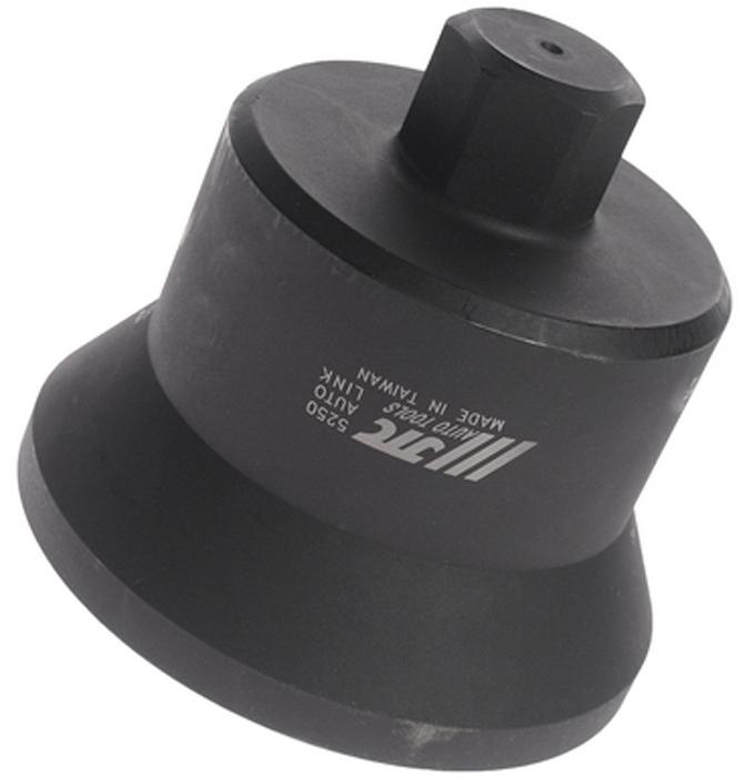 JTC Головка ступичная 12-гранная (IVECO EURO TECH CURSOR HA и пр.). JTC-5250JTC-5250Изготовлена из высококачественной стали, обладает высокой прочностью, предназначена для демонтажа ступичных гаек. Надежная фиксация гайки. Предотвращает скольжение. Применяется с ударным гайковертом или динамометрическим ключом, шестигранный ключ SW36. Общая длина: 118 мм. Применение: грузовые автомобили Ивеко (Iveco) EURO TECH CURSOR HA и пр.Габаритные размеры: 175/140/130 мм. (Д/Ш/В)Вес: 2718 гр.