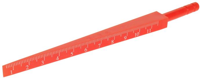 JTC Шаблон клиновой. JTC-5327JTC-5327Специально предназначен для контроля различных отверстий и зазоров.Оснащен шкалой, нанесенной при помощи лазера, и ручкой с накаткой.Инструмент изготовлен из пластика.