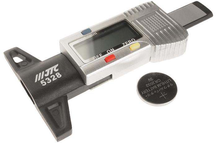 JTC Индикатор износа шин цифровой. JTC-5328JTC-5328Большой ЖК-дисплей. Рабочий диапазон: 0-25,4 мм. Разрешение: 0,01 mg. Рабочая температура: 0-40 градусов.