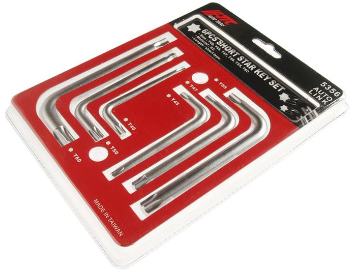 JTC Набор ключей TORX Г-образных T40-T60, 6 предметов. JTC-5356