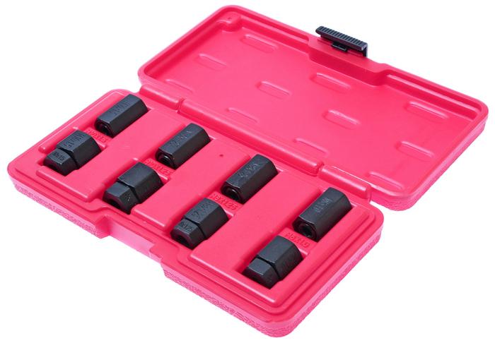 JTC Набор шпильковертов, 6 шт. JTC-5703JTC-5703Применяется для установки и снятия шпилек. Размеры: М6х1.0, М8х1.25, М10х1.25, М10х1.5. Общее количество предметов: 8. Упаковка: прочный пластиковый кейс. Материал: Тип стали CR-V 6150. Габаритные размеры: 200/110/30 мм. (Д/Ш/В) Вес: 553 г.