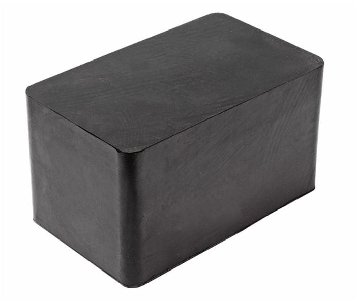 JTC Проставка для подъемника резиновая. JTC-5835JTC-5835Используется для предотвращения повреждений кузова автомобиля при работах на подъемнике. Материал: резина.Размер: 180х110х100 мм. Количество в оптовой упаковке: 8 шт. Габаритные размеры: 180/110/105 мм. (Д/Ш/В)Вес: 2686 гр.