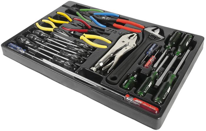 JTC Набор инструментов для тележки инструментальной. JTC-39311 jtc отвертка профессиональная с противоскользящей рукояткой sr5 х 300 мм jtc 5453
