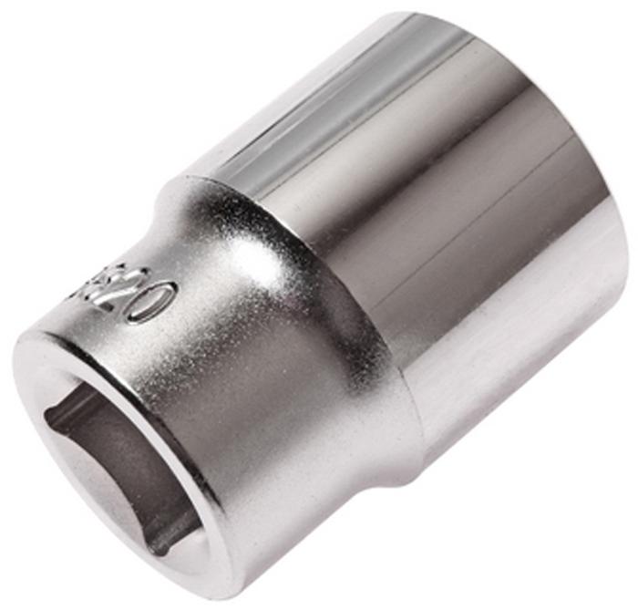 """JTC Головка торцевая 6-гранная 1/2 х 20 мм, длина 38 мм. JTC-43820JTC-438206 граней, метрический размер.Изготовлена из закаленной хром-ванадиевой стали.Размер: 1/2""""х20 мм. Длина: 38 мм.Количество в оптовой упаковке: 10 шт. и 200 шт.Габаритные размеры: 38/28/28 мм. (Д/Ш/В)Вес: 83 гр."""