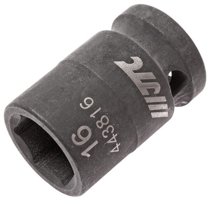 """JTC Головка торцевая ударная 6-гранная 1/2 х 16 мм, длина 38 мм. JTC-443816JTC-4438166 граней, метрический размер. Изготовлена из высококачественной хром-молибденовой стали. Размер: 1/2""""х16 мм.Общая длина: 38 мм. Количество в оптовой упаковке: 10 шт. и 200 шт. Габаритные размеры: 38/25/25 мм. (Д/Ш/В) Вес: 81 гр."""