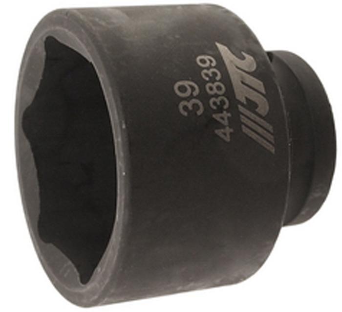 JTC Головка торцевая ударная 6-гранная 1/2 х 39 мм. JTC-443839 jtc головка торцевая ударная тонкостенная 12 гранная 1 2 х 21 мм длина 82 мм jtc 448321