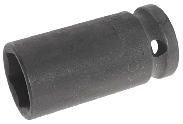 """JTC Головка торцевая ударная средней глубины, 6-гранная. JTC-445519JTC-4455196 граней, метрический размер.Диаметр: 27 мм.Общая длина: 55 мм.Размер: 1/2"""" Dr.х19 мм.Изготовлена из высококачественной хром-молибденовой стали.Количество в оптовой упаковке: 10 шт. и 200 штГабаритные размеры: 55/30/30 мм. (Д/Ш/В)Вес: 135 гр."""