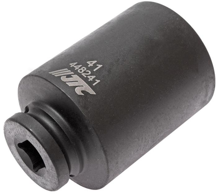 Головка торцевая JTC, ударная, глубокая, 6-гранная 1/2 х 41 мм, длина 82 мм. JTC-448241JTC-448241Ударная торцевая головка JTC изготовлена из высококачественной хром-молибденовой стали. Глубокая головка имеет 6 граней и метрический размер. Размер: 1/2 х 36 мм.Общая длина: 82 мм.