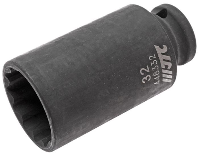 JTC Головка торцевая ударная тонкостенная 12-гранная 1/2 х 32 мм, длина 82 мм. JTC-448332