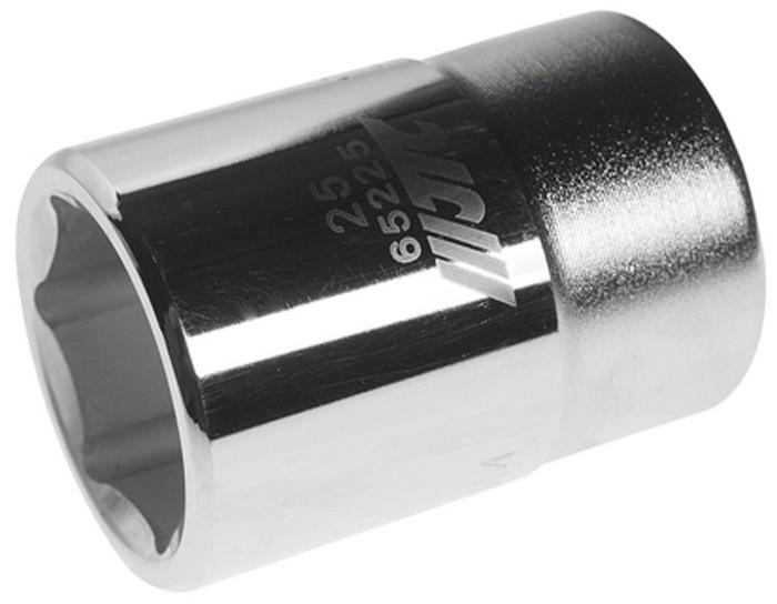"""JTC Головка6-гранная 3/4 х 25 мм, длина 50 мм. JTC-65225JTC-652256 граней, метрический размер. Диаметр: 25 мм. Общая длина: 50 мм. Размер: 3/4"""" Dr. Изготовлена из закаленной хром-ванадиевой стали. Габаритные размеры: 50/35/35 мм. (Д/Ш/В) Вес: 220 гр."""