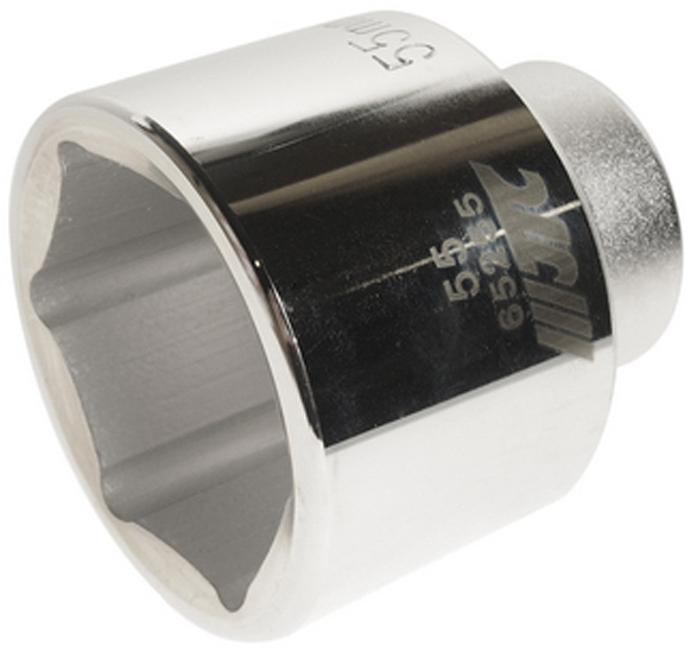 """JTC Головка6-гранная 3/4 х 55 мм, длина 76 мм. JTC-65255JTC-652556 граней, метрический размер. Диаметр: 55 мм. Общая длина: 76 мм. Размер: 3/4"""" Dr. Изготовлена из закаленной хром-ванадиевой стали. Габаритные размеры: 90/90/90 мм. (Д/Ш/В) Вес: 1100 гр."""