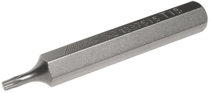 JTC Вставка 10 мм TORX удлиненная Т15х75 мм. JTC-1337515JTC-1337515Размер: Т15 х 75 мм., удлиненная TORX.Длина насадки: 10 мм.Материал: S2 сталь.