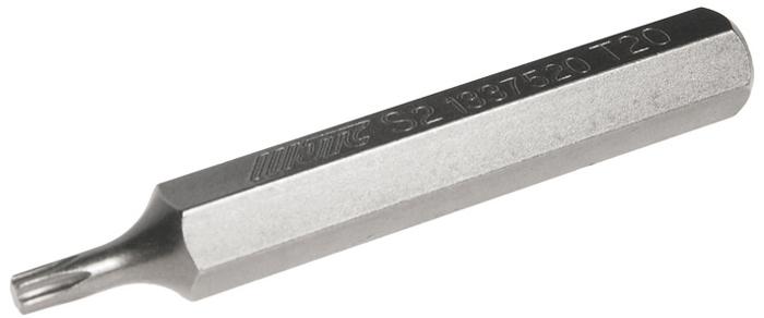 JTC Вставка 10 мм TORX удлиненная Т20х75 мм. JTC-1337520JTC-1337520Размер: Т20 х 75 мм., удлиненная TORX. Длина насадки: 10 мм. Материал: S2 сталь.
