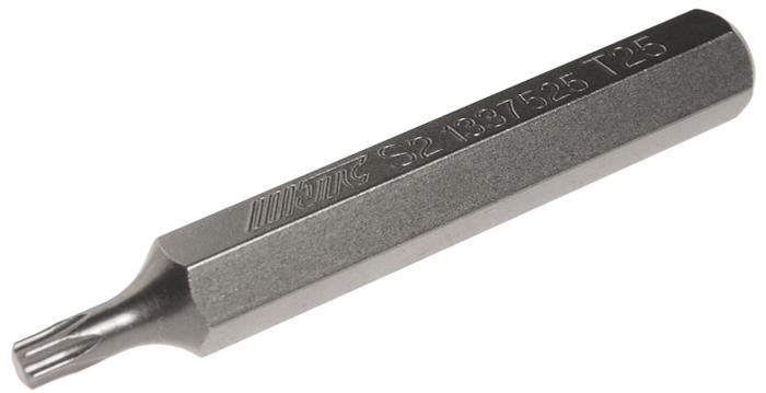 JTC Вставка 10 мм TORX удлиненная Т25х75 мм. JTC-1337525JTC-1337525Размер: Т25 х 75 мм., удлиненная TORX. Длина насадки: 10 мм. Материал: S2 сталь.