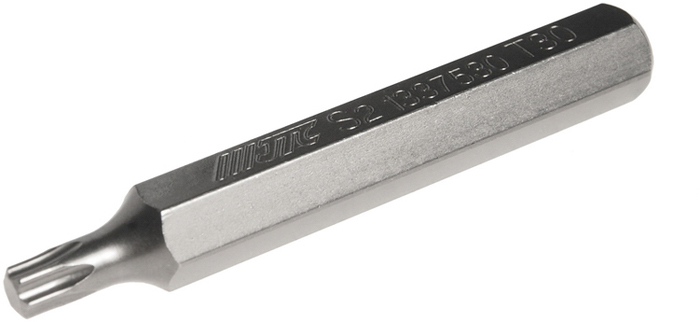 Бита JTC Torx, удлиненная, Т30х75 мм, 10 мм. JTC-1337530JTC-1337530Бита JTC Torx, удлиненная выполнена из стали.Размер: Т30 х 75 мм.Длина биты: 10 мм.