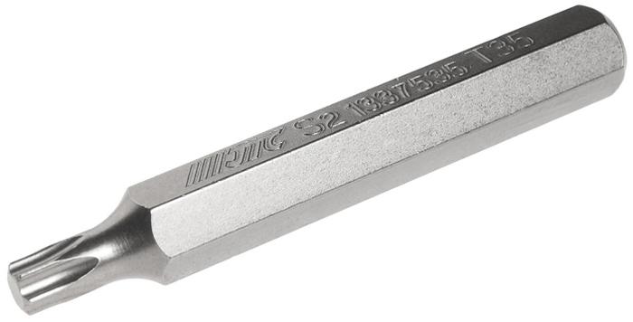 Бита JTC Torx, удлиненная, Т35х75 мм, 10 мм. JTC-1337535JTC-1337535Бита JTC Torx, удлиненная выполнена из стали.Размер: Т35 х 75 мм.Длина биты: 10 мм.