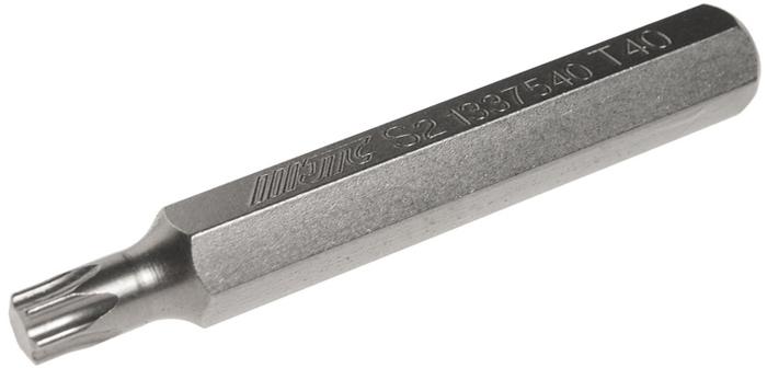 Бита JTC Torx, удлиненная, Т40х75 мм, 10 мм. JTC-1337540JTC-1337540Бита JTC Torx, удлиненная выполнена из стали.Размер: Т40 х 75 мм. Длина биты: 10 мм.