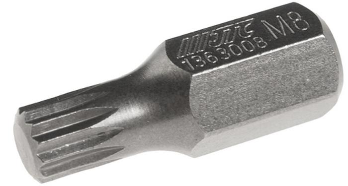 JTC Вставка 10 мм SL М8х30 мм. JTC-1363008JTC-1363008Размер: М8. Общая длина: 30 мм. Длина насадки: 10 мм SL. Материал: S2 сталь.