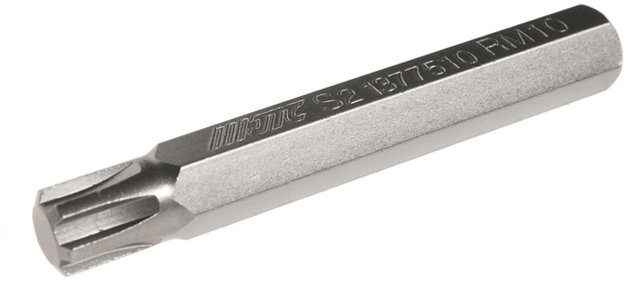 JTC Вставка 10 мм Ribe удлиненная М10х75 мм. JTC-1377510JTC-1377510Размер: М10. Общая длина: 75 мм. Длина насадки: 10 мм удлиненная Ribe. Материал: S2 сталь.