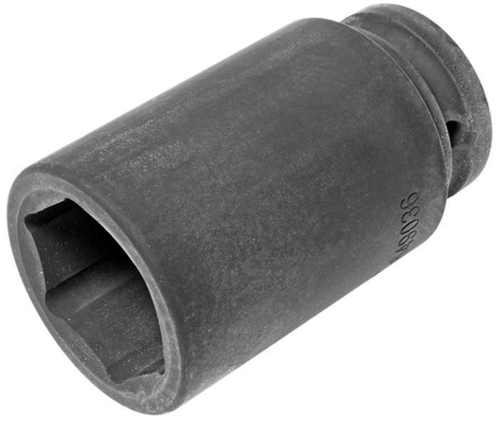 Головка торцевая JTC, глубокая, ударная, 6-гранная 3/4 х 36 мм, длина 90 мм. JTC-649036JTC-649036Глубокая торцевая головка JTC изготовлена из высококачественной хром-ванадиевой стали. Ударная головка имеет 6 граней и метрический размер.Размер: 3/4 х 36 мм. Общая длина: 90 мм.