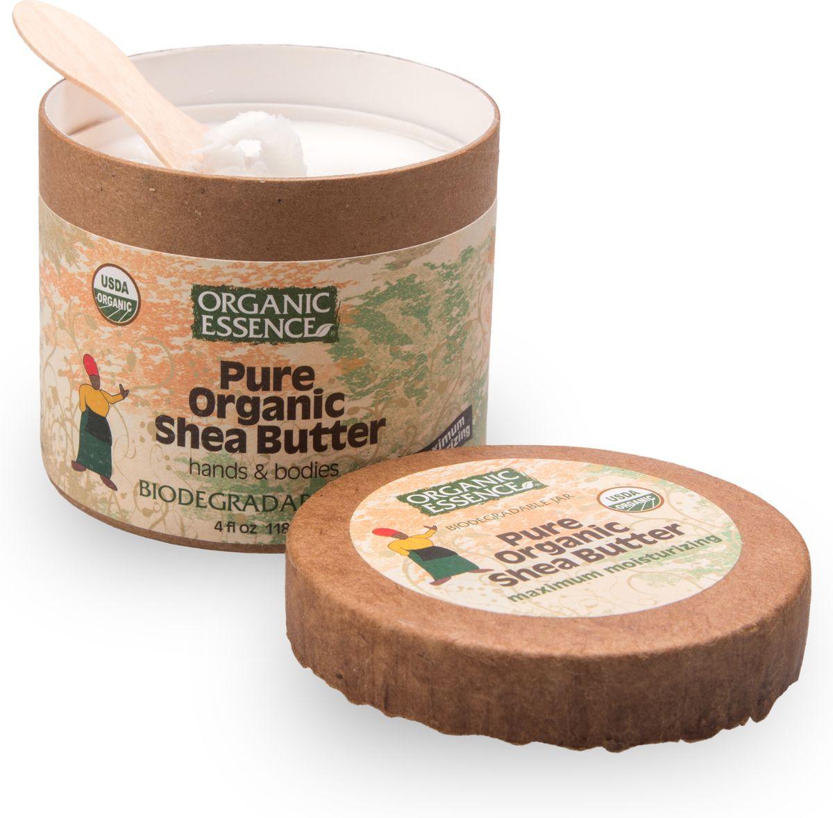 Organic Essence Чистое (100%) органическое масло Ши 114 г/118 млBCSHE100% органическое масло Ши произведено методом естественного холодного отжима из африканских орехов дерева Карите. Масло Ши улучшает капиллярное кровообращение, является превосходным целителем и омолаживающим средством для проблемной, сухой или возрастной кожи. 100% органическое масло Ши Organic Essence с естественным ароматом, без каких либо отдушек. Необыкновенная польза продукта достигается за счёт высокого содержания стеариновой и олеиновой жирных кислот. Эти жирные кислоты, увлажняя кожу, помогают сохранить надолго её эластичность. В производстве масла Ши не используются растворители или любые химические вещества, помогая сохранить высокие стандарты чистоты продукта с добавлением знака Baby Safe. USDA Organic сертифицированный продукт.