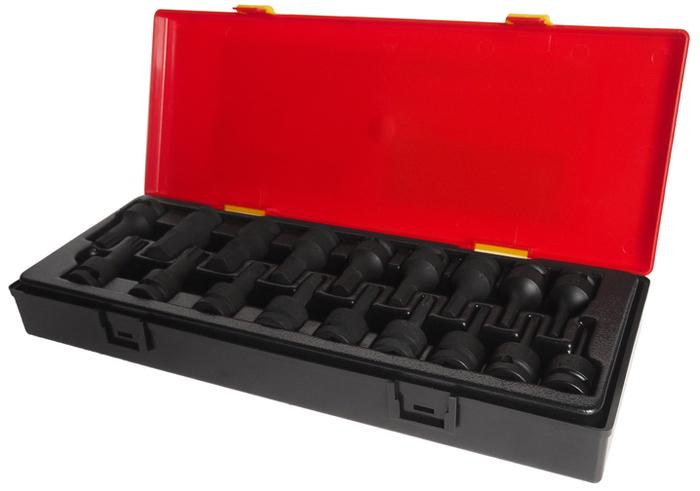 JTC Набор головок торцевых ударных 1/2, 60 мм, 18 шт. JTC-K4181 набор головок торцевых ударных 60 мм 18 шт jtc k4181