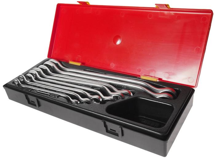 JTC Набор ключей накидных (европейский стандарт), 8 шт. JTC-K6082JTC-K6082В комплекте:Артикулы JTC-PE0809-2224; ключи накидные 45°: 8х9, 10х12, 11х13, 14х15, 16х17, 18х19, 21х23, 22х24 мм. - 8 шт.Общее количество предметов: 8 шт.Комплект упакован в прочный презентабельный бокс.Количество в оптовой упаковке: 8 шт.Габаритные размеры: 370/140/55 мм. (Д/Ш/В)Вес: 2200 гр.