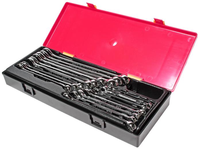 JTC Набор ключей комбинированных с зеркальной полировкой, 17 шт. JTC-K6171JTC-K6171В комплекте:Артикулы JTC-АЕ1206-АЕ1223: ключ рожково-накидной (зеркальная полировка) 6 мм., 7 мм., 8 мм., 9 мм., 10 мм., 11 мм., 12 мм., 13 мм., 14 мм., 15 мм., 16 мм., 17 мм., 18 мм., 19 мм., 21 мм., 22 мм., 23 мм. - 17 шт. Общее количество предметов: 17 шт.Комплект упакован в прочный презентабельный бокс. Габаритные размеры: 370/145/55 мм. (Д/Ш/В)Вес: 2100 гр.
