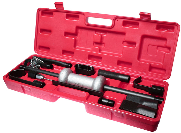 JTC Молоток обратный с захватами в комплекте. JTC-YC900JTC-YC900В комплекте 9 различных захватов, что позволяет выполнять различные работы по кузовному ремонту.Захваты изготовлены из листовой стали, износоустойчивы.Возможность использовать в ограниченном пространстве.Количество в оптовой упаковке: 2 шт.Упаковка: прочный переносной кейс.Габаритные размеры: 600/200/100 мм. (Д/Ш/В)Вес: 8000 гр.